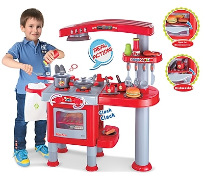 Berry Toys My First Play Kitchen; Red WYF078277206014