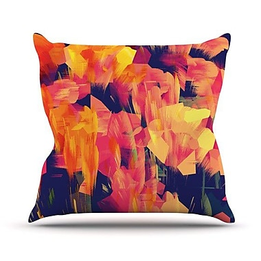 KESS InHouse Geo Flower Outdoor Throw Pillow; 26'' H x 26'' W x 4'' D