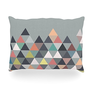 KESS InHouse Nordic Combination Abstract Outdoor Throw Pillow; 14'' H x 20'' W x 3'' D