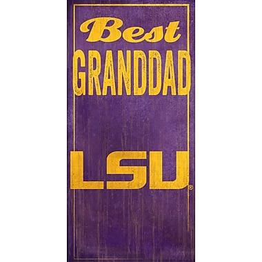 Fan Creations NCAA 'Best Granddad' Graphic Art Print; LSU