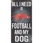 Fan Creations NCAA Football and My Dog Textual Art Plaque; University of Arkansas