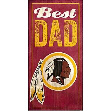 Fan Creations NFL Best Dad Graphic Art Plaque; Washington Redskins