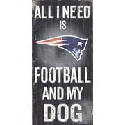 Fan Creations NFL Football and My Dog Textual Art Plaque; New England Patriots