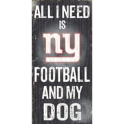 Fan Creations NFL Football and My Dog Textual Art Plaque; New York Giants