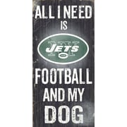 Fan Creations NFL Football and My Dog Textual Art Plaque; New York Jets
