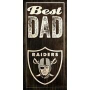 Fan Creations NFL Best Dad Graphic Art Plaque; Oakland Raiders