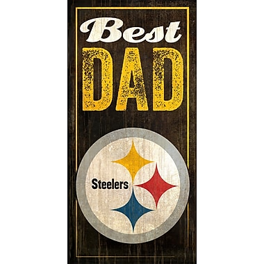 Fan Creations NFL Best Dad Graphic Art Plaque; Pittsburgh Steelers