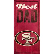 Fan Creations NFL Best Dad Graphic Art Plaque; San Francisco 49ers