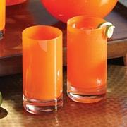Studio A Bar ware Lab Highball Glass (Set of 4); Clementine