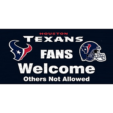 Fan Creations NFL 'Fans Welcome' Graphic Art Print on Wood; Houston Texans