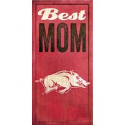 Fan Creations NCAA Best Mom Textual Art Plaque; University of Arkansas
