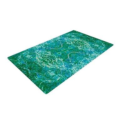 KESS InHouse Eden Teal/Green Area Rug; 2' x 3'