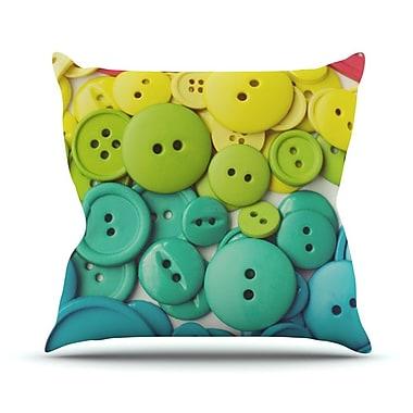 KESS InHouse Cute as a Button Outdoor Throw Pillow; 14'' H x 20'' W x 3'' D