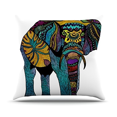 KESS InHouse Elephant of Namibia Outdoor Throw Pillow; 26'' H x 26'' W x 4'' D