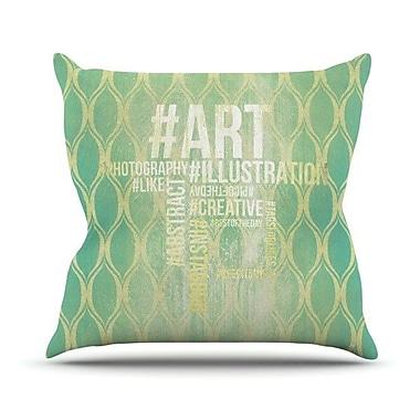 KESS InHouse Hashtag Outdoor Throw Pillow; 18'' H x 18'' W x 3'' D