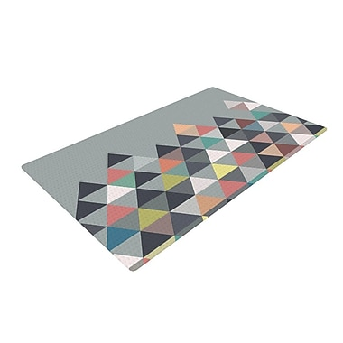 KESS InHouse Nordic Combination Gray Abstract Area Rug; 4' x 6'