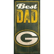 Fan Creations NFL Best Dad Graphic Art Plaque; Green Bay Packers