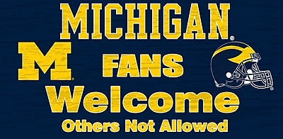 Fan Creations NCAA 'Fans Welcome' Graphic Art Print; University of Michigan