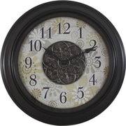Decor Therapy 16'' Contemporary Floral Wall Clock