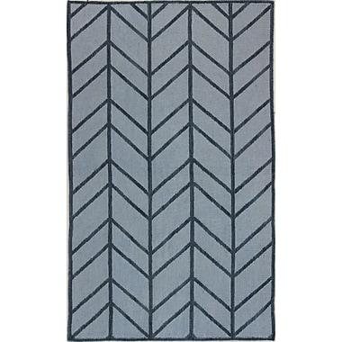 Bashian Rugs Rockport Light Blue Area Rug; Rectangle 5' x 7'6''