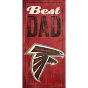 Fan Creations NFL Best Dad Graphic Art Plaque; Atlanta Falcons