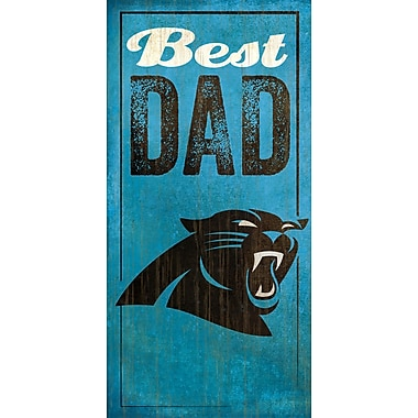 Fan Creations NFL Best Dad Graphic Art Plaque; Carolina Panthers