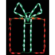Brite Ideas Gift Box - Bow LED Light; Green