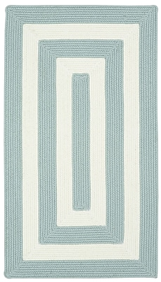 Capel Willoughby Striped Spa Blue Area Rug; Concentric 5' x 8'