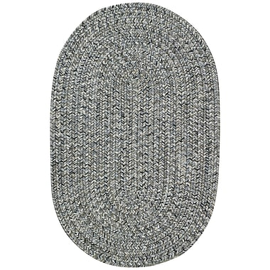 Capel Sea Pottery Smoke Variegated Outdoor Area Rug; Oval Runner 2'3'' x 9'