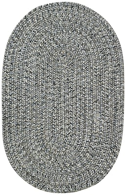 Capel Sea Pottery Smoke Variegated Outdoor Area Rug; Oval 3' x 5'
