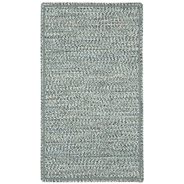 Capel Sea Pottery Smoke Variegated Outdoor Area Rug; Concentric Square 9'6''