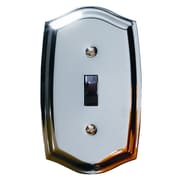 Baldwin Colonial Design Single Switch Wall Plate; Polished Brass