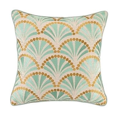 KD Spain Talavera IV Embroidered Linen Throw Pillow
