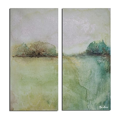 Ready2hangart 'Abstract Landscape' 2 Piece Painting Print on Wrapped Canvas Set