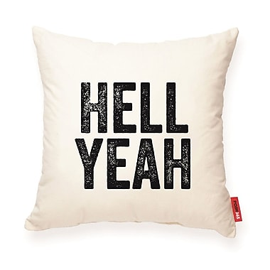 Posh365 Expressive Hell Yeah Cotton Throw Pillow