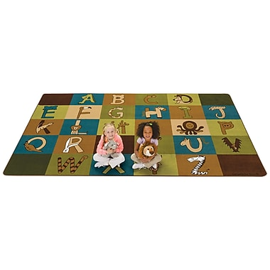 Kids Value Rugs A to Z Animals Area Rug