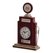 Woodland Imports Metal Table Clock; Red