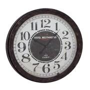 Woodland Imports Oversized 31'' Wood Wall Clock; Black