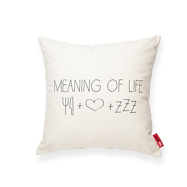 Posh365 Expressive Meaning of Life Cotton Throw Pillow