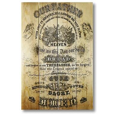 Gizaun Art 4 Piece Wile E. Wood Lord's Prayer Vintage Advertisement Set
