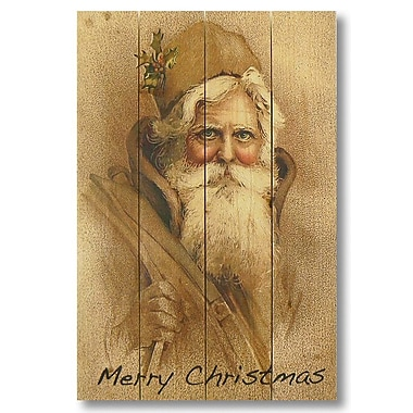 Gizaun Art 4 Piece Wile E. Wood Merry Christmas Painting Print Set