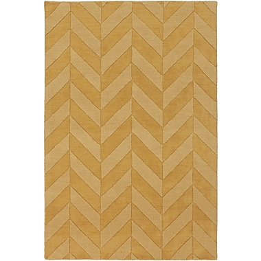 Artistic Weavers Central Park Yellow Chevron Carrie Area Rug; Runner 2'3'' x 10'