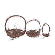 Fantastic Craft 3 Piece Twig Nest Set w/ Handle