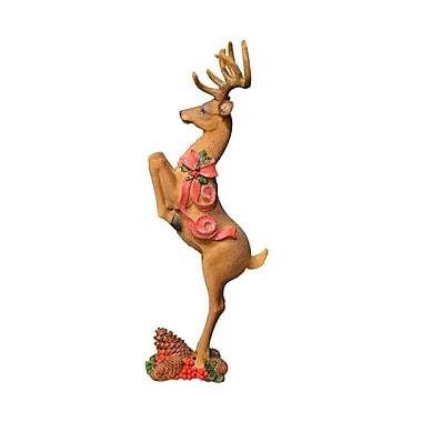 Fantastic Craft 20'' Jumping Xmas Deer Figurine; Brown
