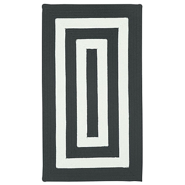 Capel Willoughby Black/White Striped Outdoor Area Rug; Concentric 1'8'' x 2'6''