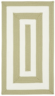 Capel Willoughby Cream Striped Outdoor Area Rug; Concentric Runner 2'3'' x 9'