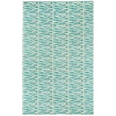 Capel Sori Azure Silver Trellis Area Rug; Rectangle 7' x 9'