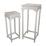 Fantastic Craft 2 Piece Nightstand Set; Cream