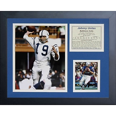 Legends Never Die Baltimore Colts Johnny Unitas Framed Memorabili