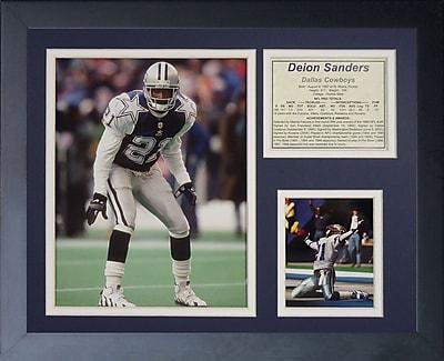 Legends Never Die Dallas Cowboys Deion Sanders Framed Memorabili